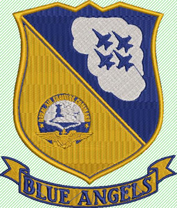 Blue Angels Insignia Machine Embroidery File. Naval Air Training Command