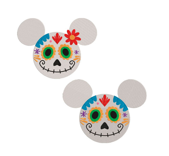 BUNDLE - Disney Coco inspired Machine Embroidery Design. 7 sizes Day of the Dead Mickey and Minnie