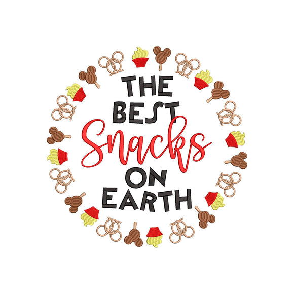 Disney Snacks Inspired Machine Embroidery Design. The Best Snacks on Earth