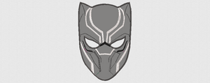 Marvel Black Panther Necklace Inspired Machine Embroidery Design. 8 sizes