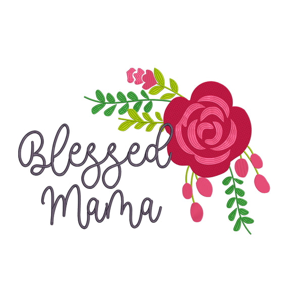 Blessed Mama.  Machine Embroidery Files. 5 Sizes