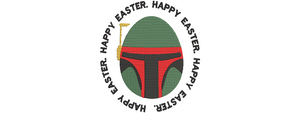 Disney Star Wars inspired Machine Embroidery Easter Design. Boba Fett Easter Egg Design Multiple Sizes