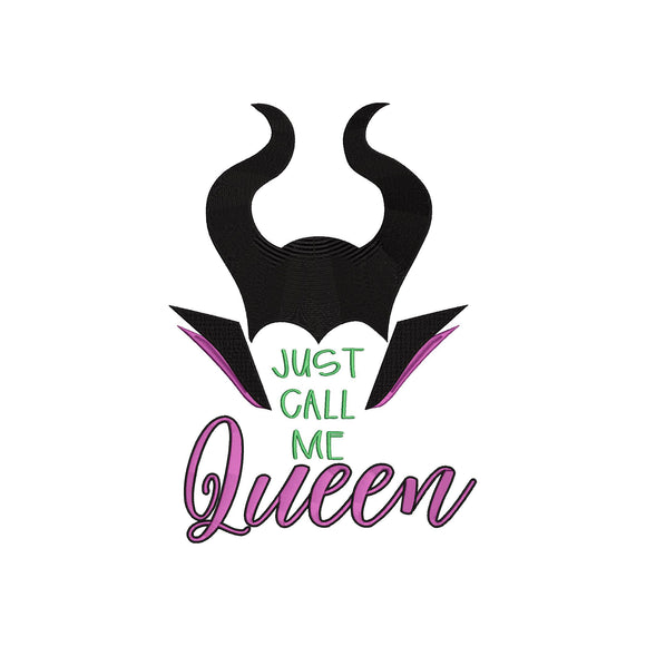 Disney Maleficent Mistress of Evil Villains inspired Machine Embroidery Design. 4 sizes Just call me Queen.