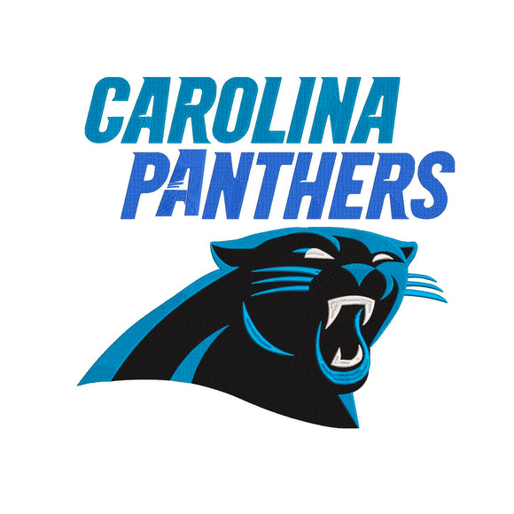 BUNDLE -  NFL Carolina Panthers inspired Machine Embroidery design. 2 Designs Multiple Sizes