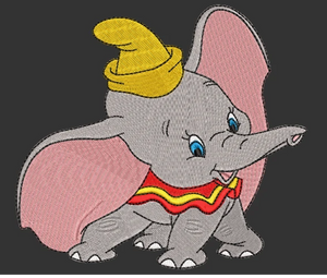 Disney Dumbo Inspired Disney Machine Embroidery Design. 5 sizes
