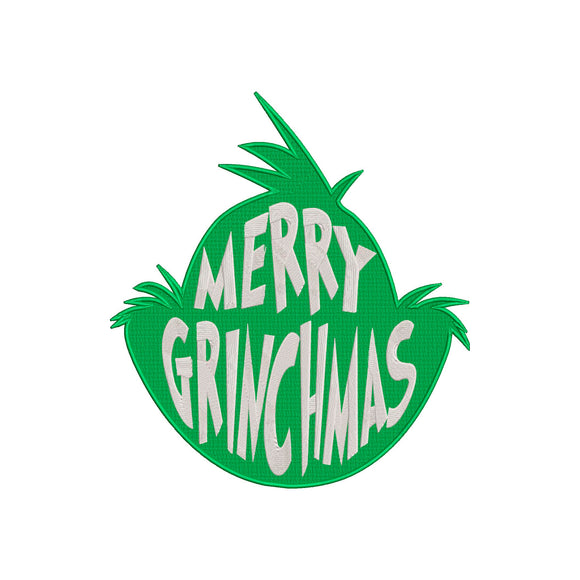 Inspired by The Grinch who stole Christmas Machine Embroidery Design. Merry Grinchmas!