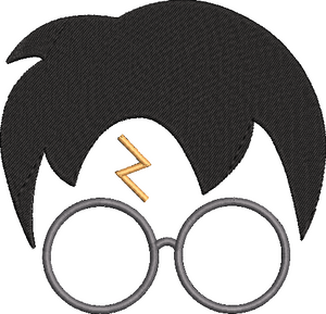 Harry Potter inspired Machine Embroidery Design.  Sizes 5""