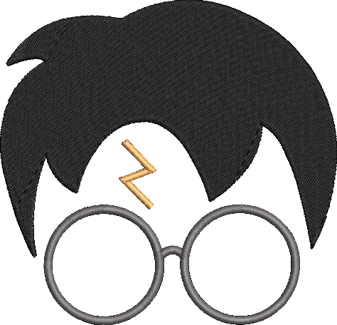 Harry Potter inspired Machine Embroidery Design.  Sizes 5