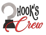 Disney Peter Pan inspired Machine Embroidery Design.  Captain Hook, Hook's Crew. 2 Sizes.