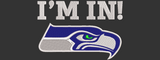 NFL Seattle Seahawks inspired design.  Filled, I'm In, and #12 Designs.  Three Designs. Multiple Sizes.
