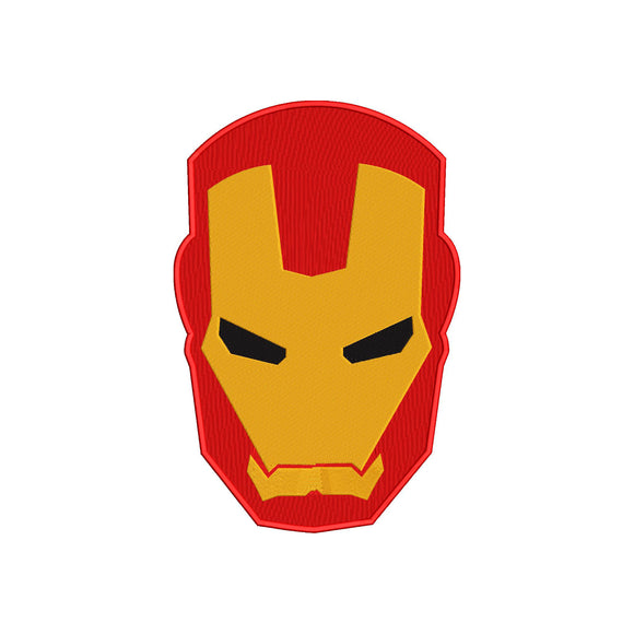 Marvel Inspired Iron Man Machine Embroidery Design.  5 sizes