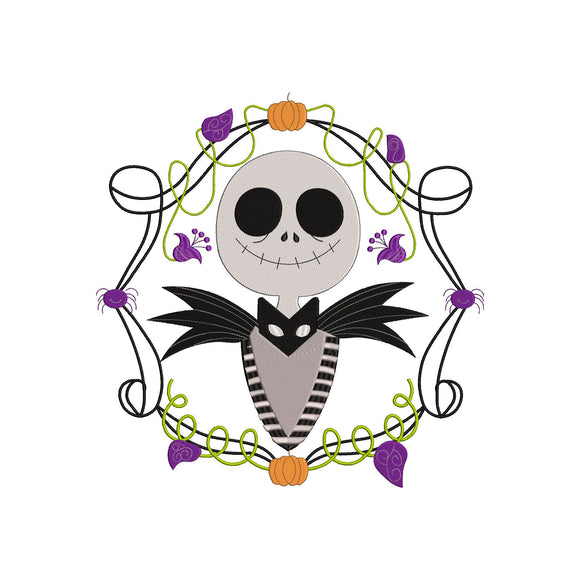 Jack Skellington from The Nightmare Before Christmas! Movie Inspired Machine Embroidery Design. 5 sizes