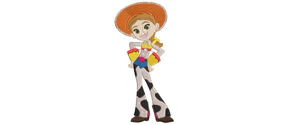 Disney Toy Story Jessie inspired Machine Embroidery Design. 4 sizes