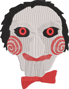 Saw / Jigsaw Movie Inspired Machine Embroidery Design File. Billy the Puppet Design. 5 Sizes