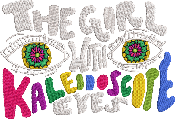 The Beatles inspired Machine Embroidery Design. Girl with the kaleidoscope eyes 4 Sizes