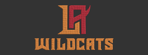 XFL Los Angeles LA Wildcats inspired design.  Logo, Text and Logo with text in multiple sizes