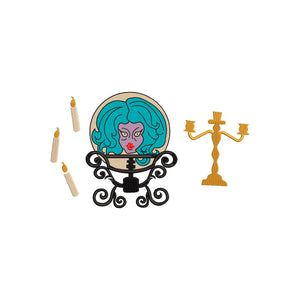 Disney inspired Haunted Mansion Machine Embroidery Design. Madame Leota.  Fortune Teller, Crystal Ball, 5 Sizes