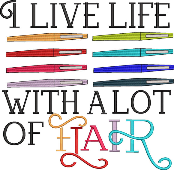 I live life with a lot of Flair.  Flair Pen inspired Machine Embroidery Design.  5 sizes