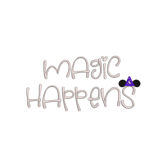Disney inspired Machine Embroidery Design.  Magic Happens