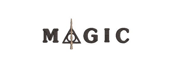 Harry Potter inspired Machine Embroidery Design. 6 Sizes Magic Title.