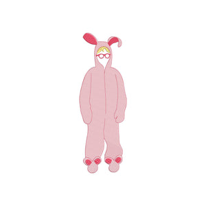 Inspired by A Christmas Story Movie The Pink Bunnysuit.  6 Sizes.