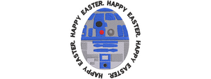 Disney Star Wars inspired Machine Embroidery Easter Design. R2D2 Easter Egg Design Multiple Sizes