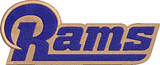 NFL Los Angeles Rams inspired Machine Embroidery design. Filled and Applique Designs.