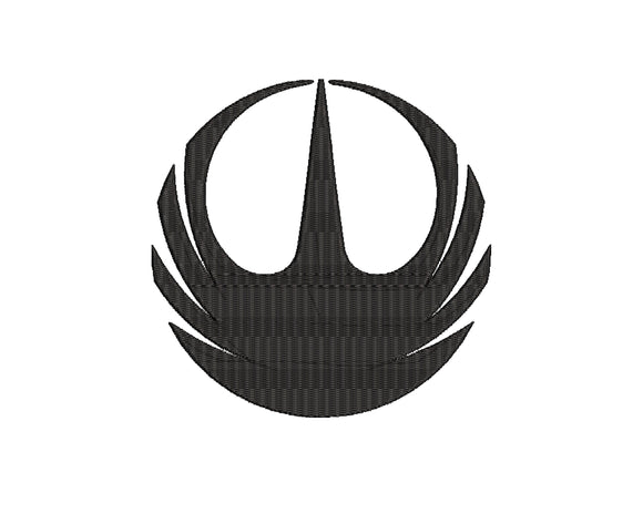 Disney Star Wars inspired Machine Embroidery Design. Rogue One Jedi Order Symbol
