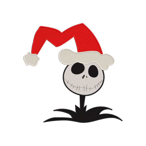 Jack Skellington as Sandy Claus from The Nightmare Before Christmas! Movie Inspired Machine Embroidery Design. 4 sizes
