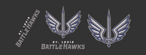 XFL St. Louis Blackhawks inspired design.  Logo, Text and Logo with text in multiple sizes