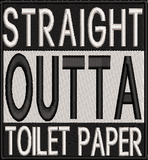 Coronavirus Funny Toilet Paper Shortage Machine Embroidery File.  Bundle of 4 Designs 4x4