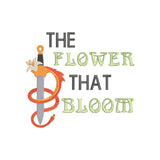Disney Princess Mulan Inspired The Flower That Bloom Quote, Machine Embroidery Design 2 sizes