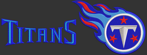 "AFL Tennesee Titans inspired design.  Logo and ""Titans"" multiple sizes"