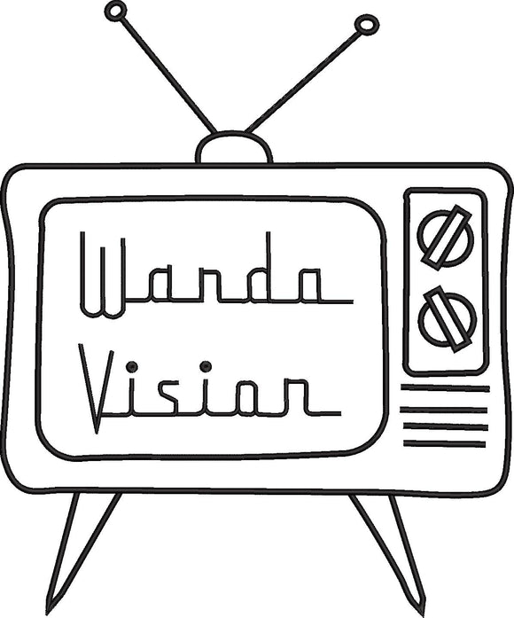 Disney Plus Wanda Vision  inspired Machine Embroidery Design