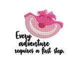 Disney Alice in Wonderland inspired Machine Embroidery Design. 2 Sizes Cheshire Cat