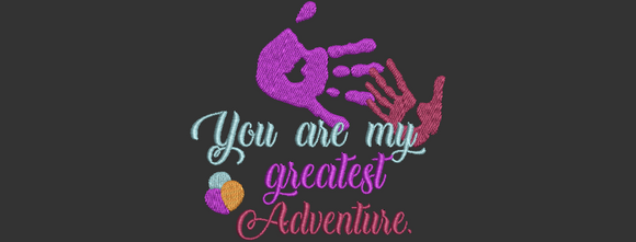 Disney Up Inspired Machine Embroidery You are my greatest Adventure. File 2 sizes.