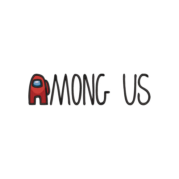 Among US Game logo Machine Embroidery Design