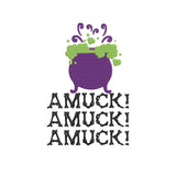 Hocus Pocus Movie Inspired Machine Embroidery Design File Amuck! Amuck! Amuck! 2 Designs, 6 sizes each
