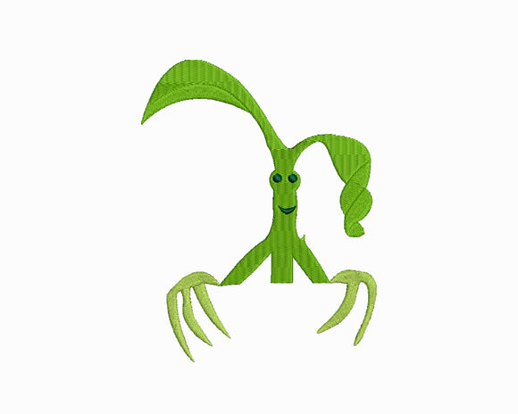 Harry Potter Fantastic Beasts inspired Machine Embroidery Design.  The cute creature Bowtruckle!