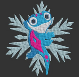Disney Frozen Bruni the Salamander inspired Machine Embroidery Design. Multiple Sizes