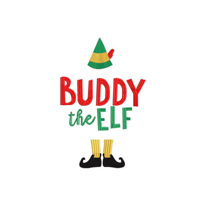 Buddy the Elf.  Elf Christmas Movie Inspired Machine Embroidery File.  5 sizes
