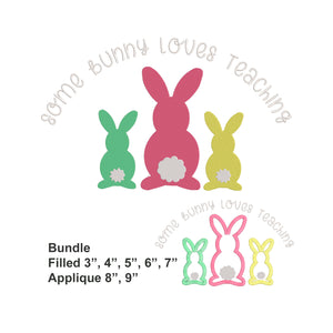 BUNDLE -Some Bunny Loves Teaching Machine Embroidery Easter Design. Easter Bunny both Applique and Filled Designs.