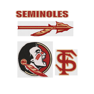 NCAA Florida State University Seminoles inspired Machine Embroidery design. 4 Different Designs, Multiple Sizes