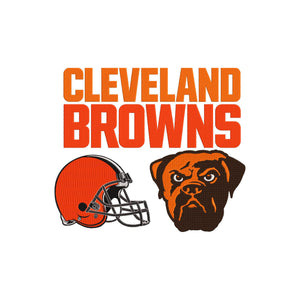 NFL Cleveland Browns inspired Machine Embroidery design. 3 Designs Multiple sizes