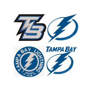 NHL Tampa Bay Lightening inspired Machine Embroidery design. 4 Different Designs, 5 sizes