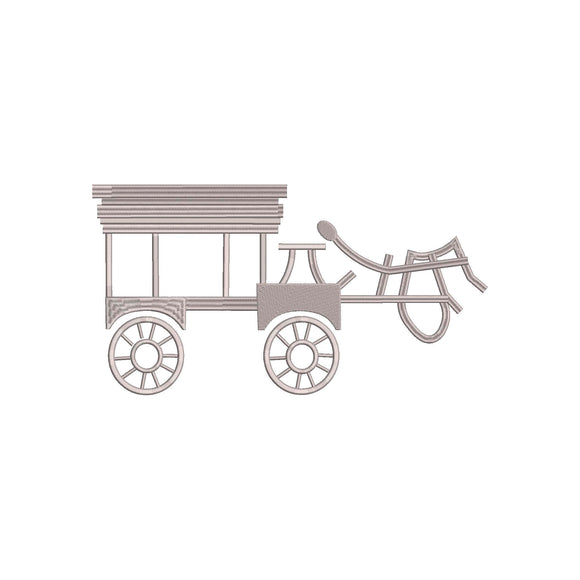 Disney Haunted Mansion inspired Machine Embroidery Design.  Ghost Carriage