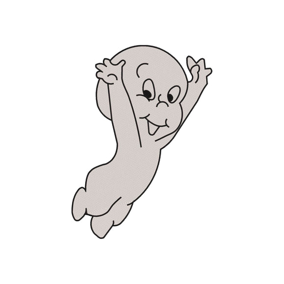Casper the Friendly Ghost Machine Embroidery Design!  6 sizes