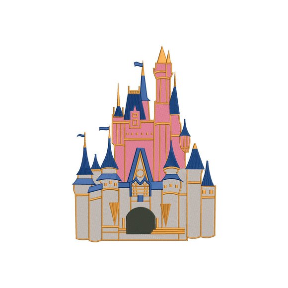 Disney Cinderella Castle inspired Machine Embroidery Design.