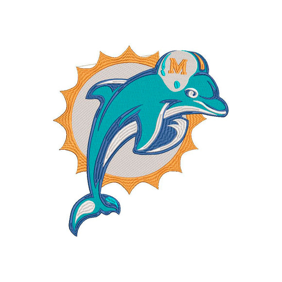 NFL Miami Dolphins inspired design.