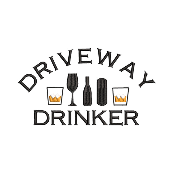 Driveway Drinker Machine Embroidery Design.  6 sizes